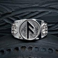 Перстень с руной Ансуз