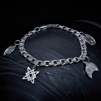 Обережный браслет Звезда Лады, Макошь, Лунница, Репейник счастья