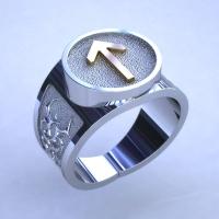 Перстень с руной Тейваз