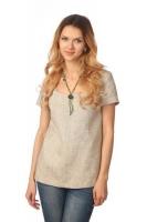 Блуза с коротким рукавом серая