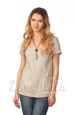 Блуза с коротким рукавом серая,