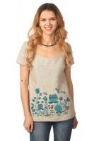 """Блуза с коротким рукавом """"Небесный Цвет"""" серая"""
