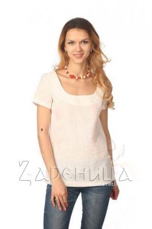 Блуза с коротким рукавом белая,