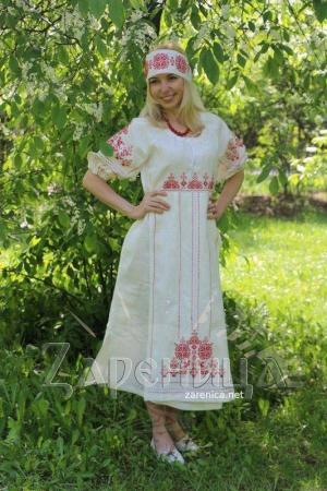 "Платье ""Лада"" белое,"