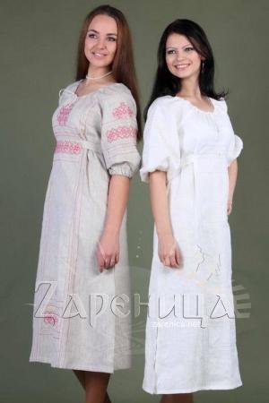 """Платье """"Берегиня"""" белое,"""