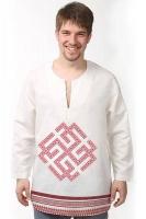 """Рубаха льняная белая """"Сварожич"""""""