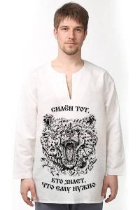 Рубаха льняная «Дитя Велеса» белая