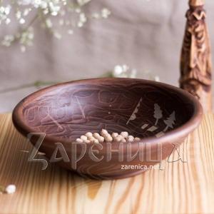 Глиняная тарелка,