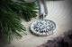 Оберег Цветок Папоротника в солнце с чернением