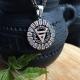 Знак Велеса в славянском рунном круге с чернением