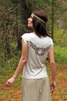 """Блуза со спущенным плечом """"Волки"""""""